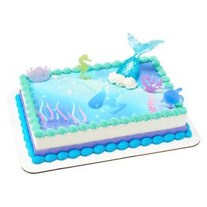 Surprising Mermaid Under The Sea Birthday Cake Picks Decoration Kit Set Funny Birthday Cards Online Eattedamsfinfo
