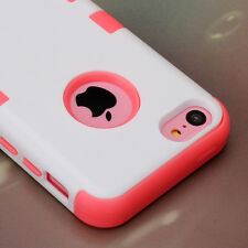For Apple iPhone 5C Hybrid Rugged ShockProof Rubber Protective Hard Case Co