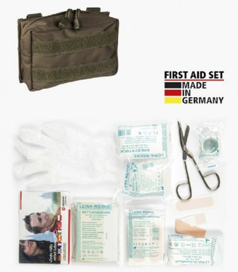 First First First Aid Set LEINA 25 Pièces Premiers Secours IFAK Medic MOLLE Sac pochette Black b3dc5c