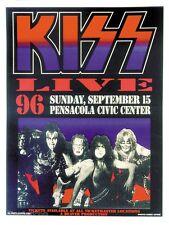 MG31 KISS LIVE Silkscreen Concert Poster by Matt Getz 1996 Pensacola Signed Mint