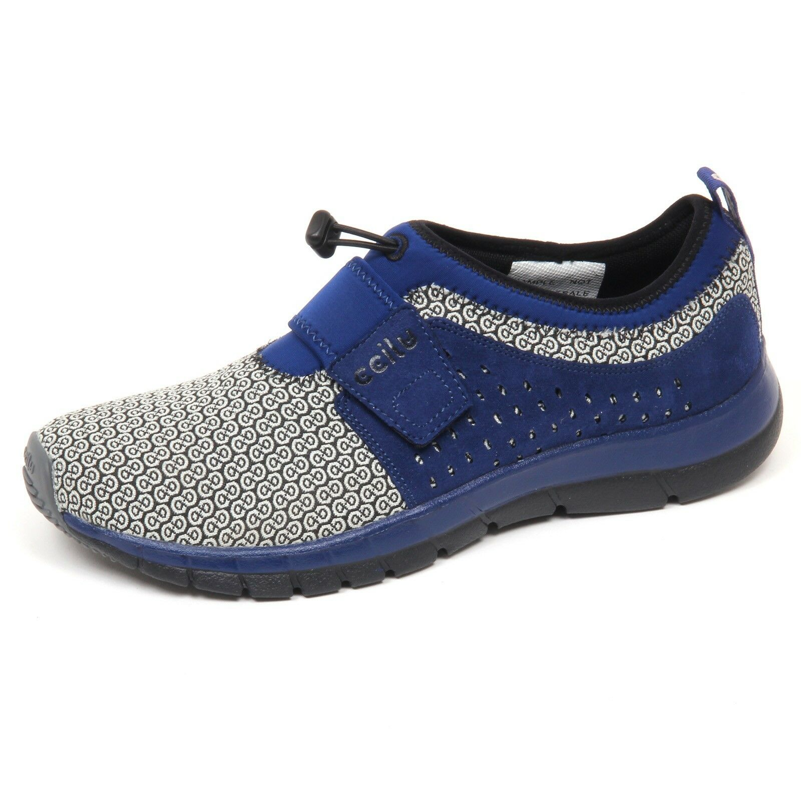 E7964 (SAMPLE NOT FOR SALE WITHOUT BOX) sneaker uomo blu blu blu CCILU slip on shoe man bf5e66