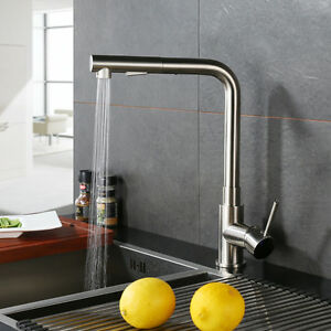Modern Kitchen Pull Out Faucet Single Handle Pull Down Spray Mixer Tap