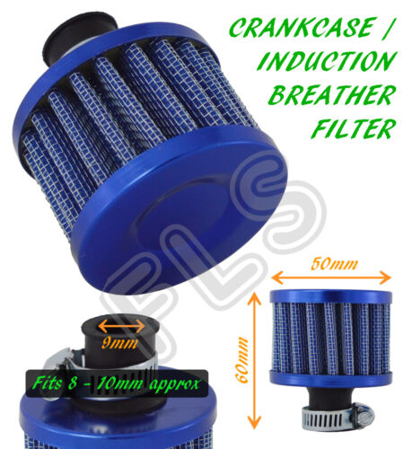BLUE OIL MINI BREATHER AIR FILTER Ford 1 FUEL CRANKCASE ENGINE CAR
