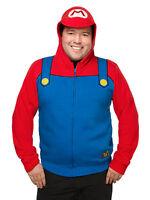 Licensed Nintendo Super Mario Costume Hoodie Brand Express Shipping