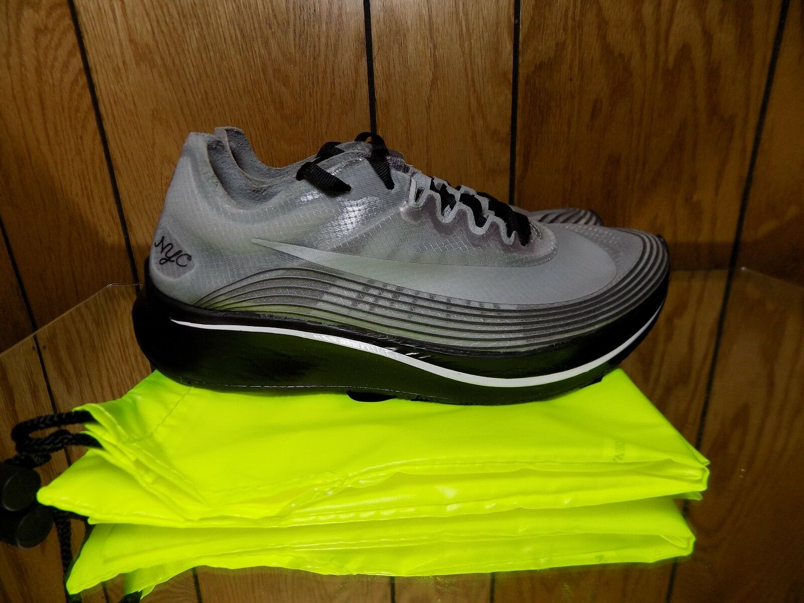 Nike NikeLab Zoom Fly SP NYC New York Marathon Black White AH5088 001 Size 6