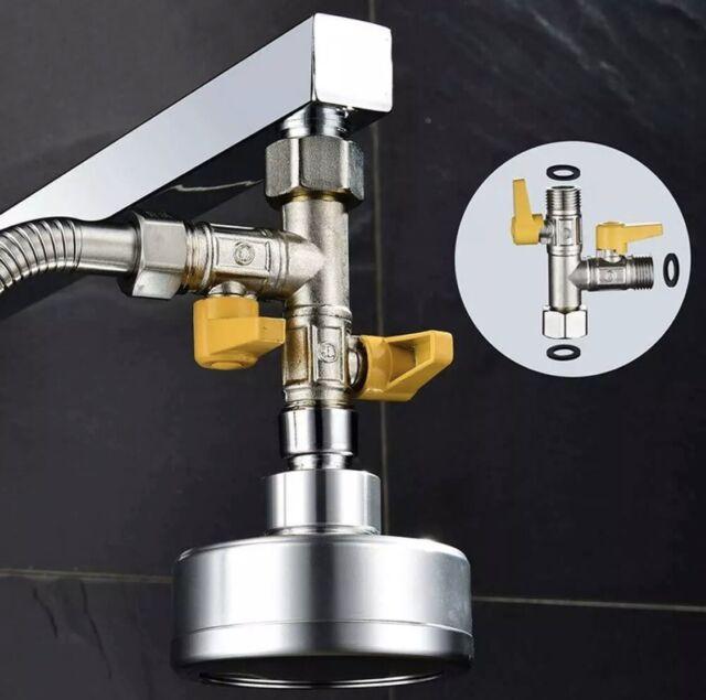 """1x T Adapter Shower Diverter Valve Shower 3-Way Bathroom Toilet Bath Bidet G1//2/"""""""