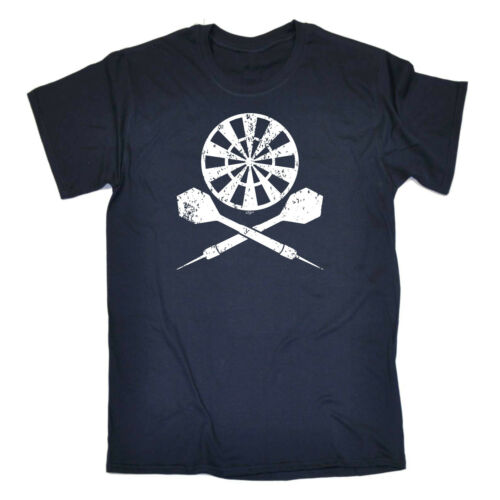 Darts Crossbones Funny Novelty T-Shirt Mens tee TShirt