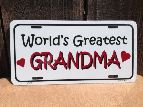 Worlds Greatest Grandma Wholesale Novelty License Plate Bar Wall Decor