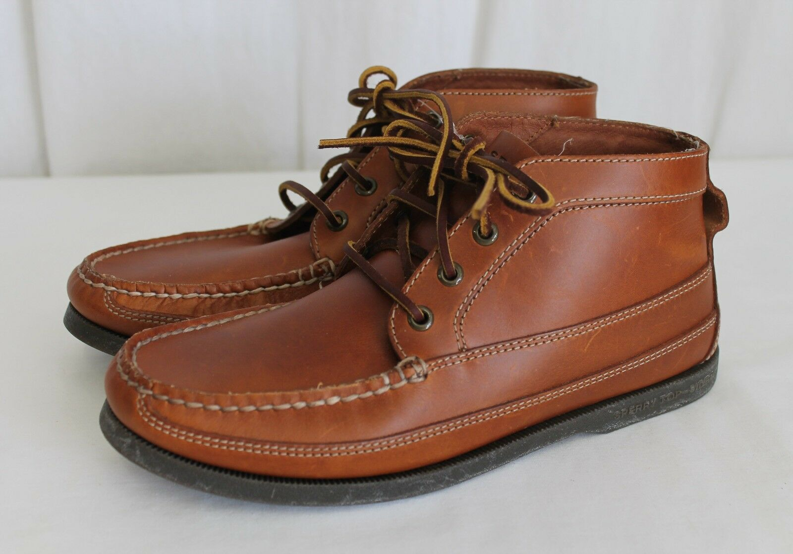 Sperry® for J.Crew Leather Chukka Boots shoes Brown Size 8 M