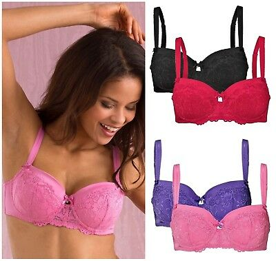 White Bras TWO PACK New Cellbes of Sweden Underwired Lightly Padded Black