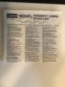 Monogram Days Of Thunder Hardee's Lumina Stock MODEL CAR INSTRUCTION SHEET #2920