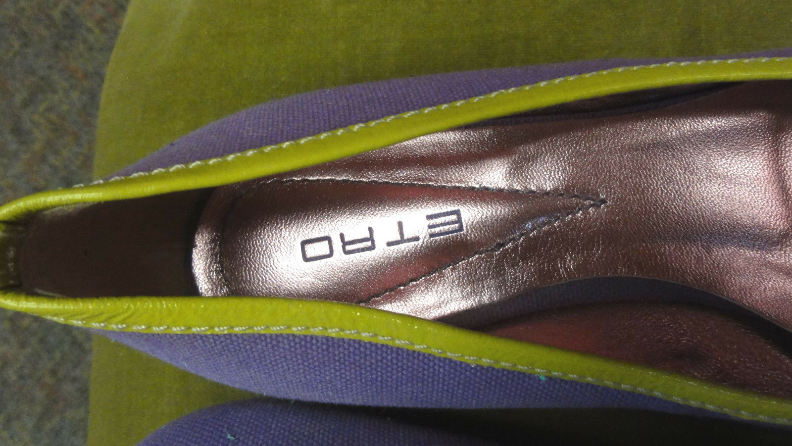 ETRO PURPLE BALLET FLATS PURPLE ETRO WITH BOWS SIZE 36.5 or 6.5 0001f2