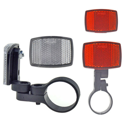 Bike Bicycle Reflector Light Reflective Strips Front// Rear Parts 54mm*39mm