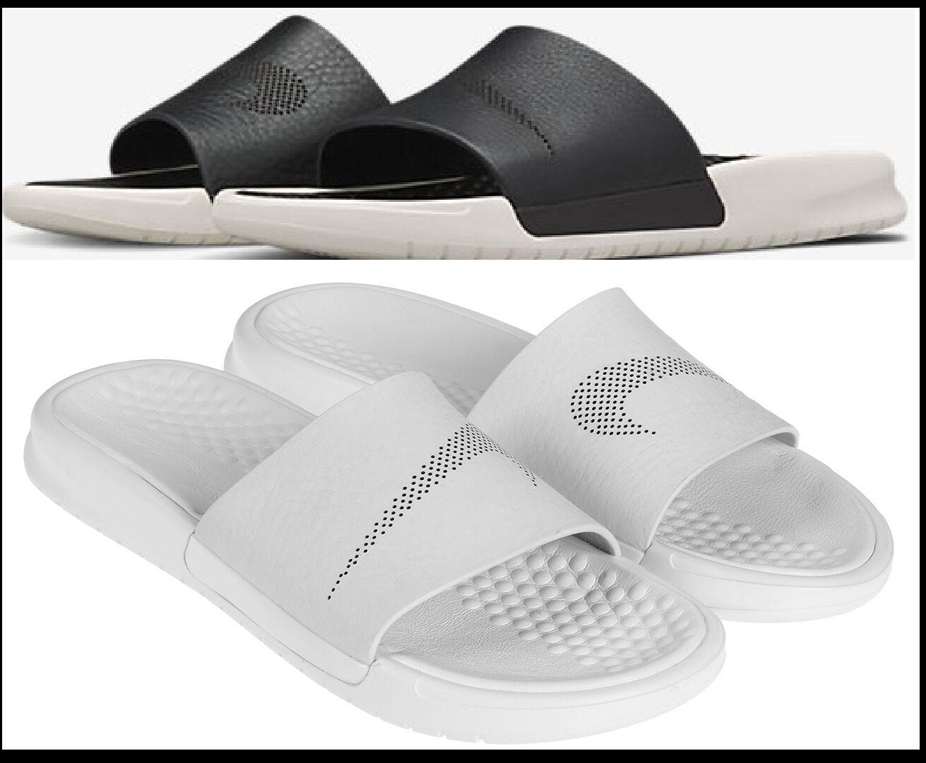 NIB100 Women 6 & 9 NikeLab Nike Benassi Slide Lux Leather Slides Sandals