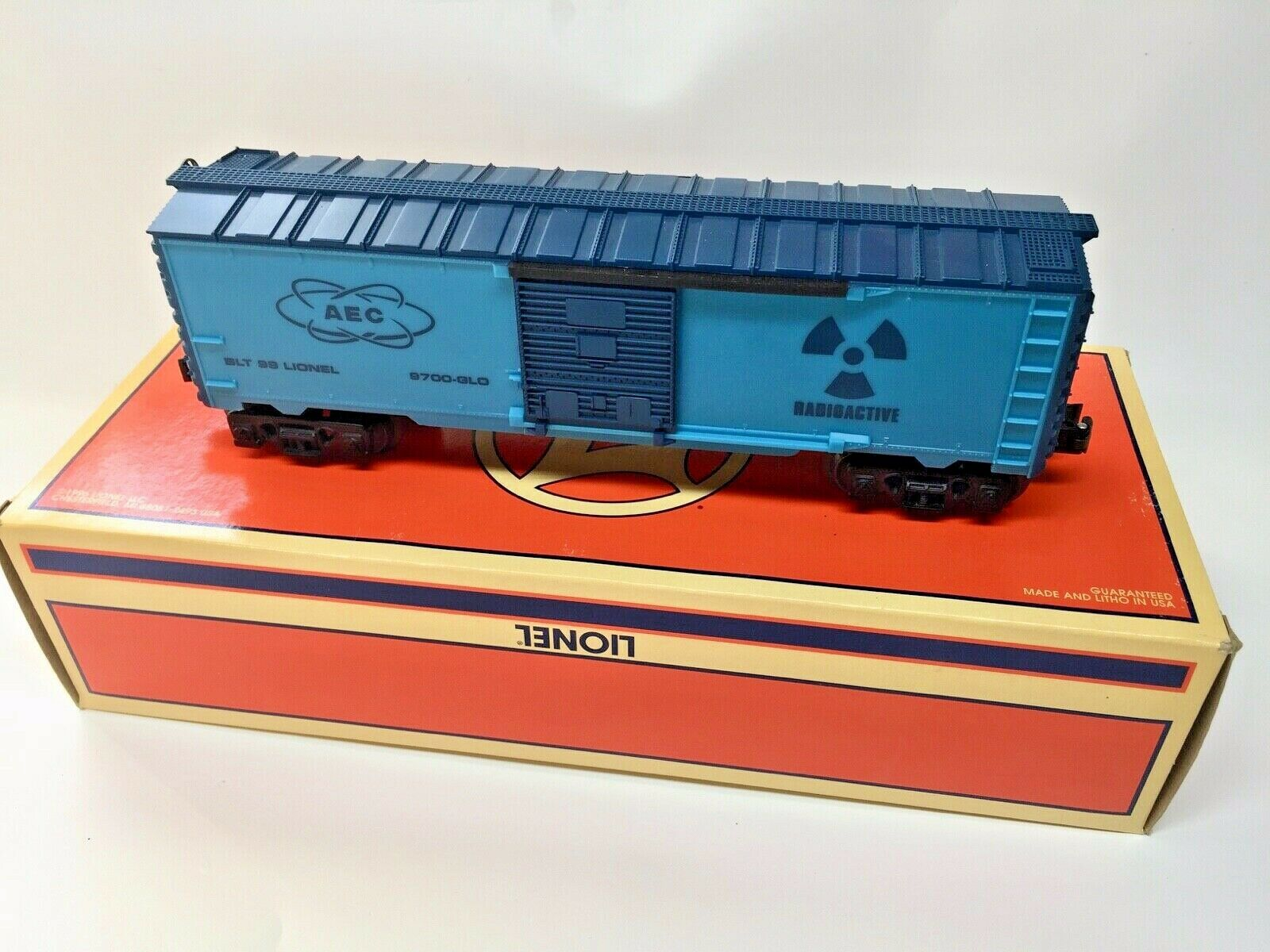 LIONEL  26215 AEC RADIOACTIVE blu GLOW IN THE DARK scatolaauto  MINTscatolaED