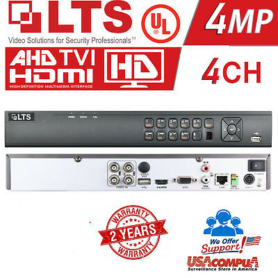 LTS 4CH DVR LTD8304K-ET PLATINUM 1080P HD TVI DVR hybrid TVI+1CH IP 1TB WD HDD