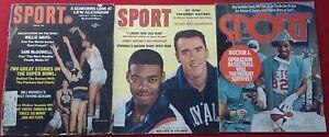 Three-Issues-Of-Sport-Magazine-1961-To-1975-Oscar-Robertson-Lew-Alcindor-Dr-J