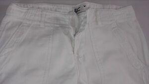 American-Eagle-Button-Fly-Jeans-Pants-Womens-SZ-0-RUNS-BIG-White-Utility-32-x-27