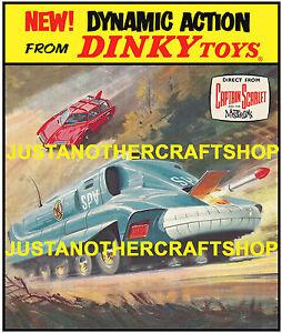 Dinky-Toys-103-104-Captain-Scarlet-Large-Size-Poster-Shop-Sign-Advert-Leaflet