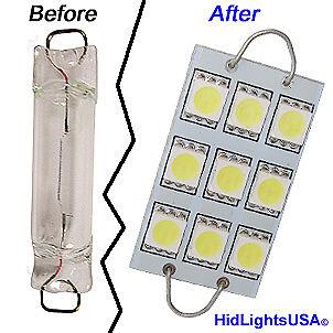 10x Blue 43mm 211-2 212-2 578 562 6-SMD-5050 Rigid Loop LED Bulbs Map Door Light