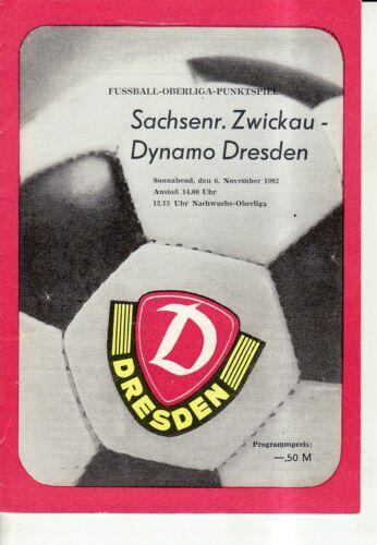 OL 82//83  SG Dynamo Dresden BSG Sachsenring Zwickau