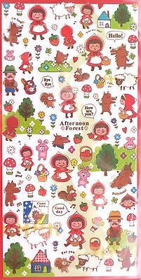 Mind Wave Mind Funny Seal Sticker Sheet (Red Riding Hood or Pinocchio)~KAWAII!!