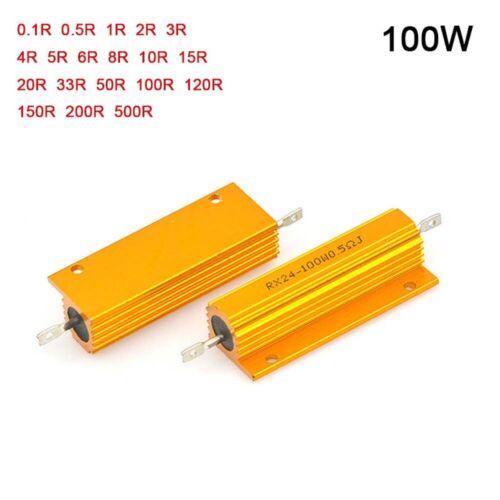Rx24 100W High Power Metal Aluminium Shell Resistor Values in Range 0.1R-500R
