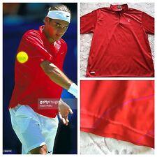 Roger Federer Nike 2001 Australian Open Shirt RARITY Large Tennis Nadal Dri-Fit