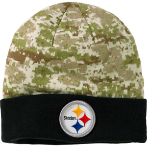 7cf726530 Genuine New Era NFL PITTSBURGH STEELERS CAMO KNIT HAT BEANIE Hunting ...
