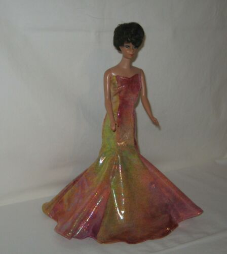 Handmade Orange and Pink Oil Slick Mermaid Dress FOR Dolls