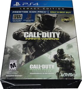 Details about PS4 Call of Duty Infinite Warfare LEGACY Edition Prestige  ICON Pack NEW