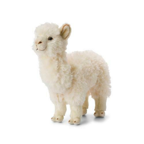 WWF Plüschtier Alpaka 31cm weiß Kuscheltier Stofftier Alpaca Kamel Südamerika
