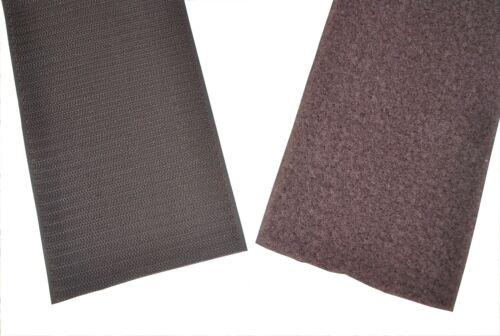 Cinta de velcro marrón oscuro 30-100mm ancha cuanto 1m velcro gancho-y semitransparente
