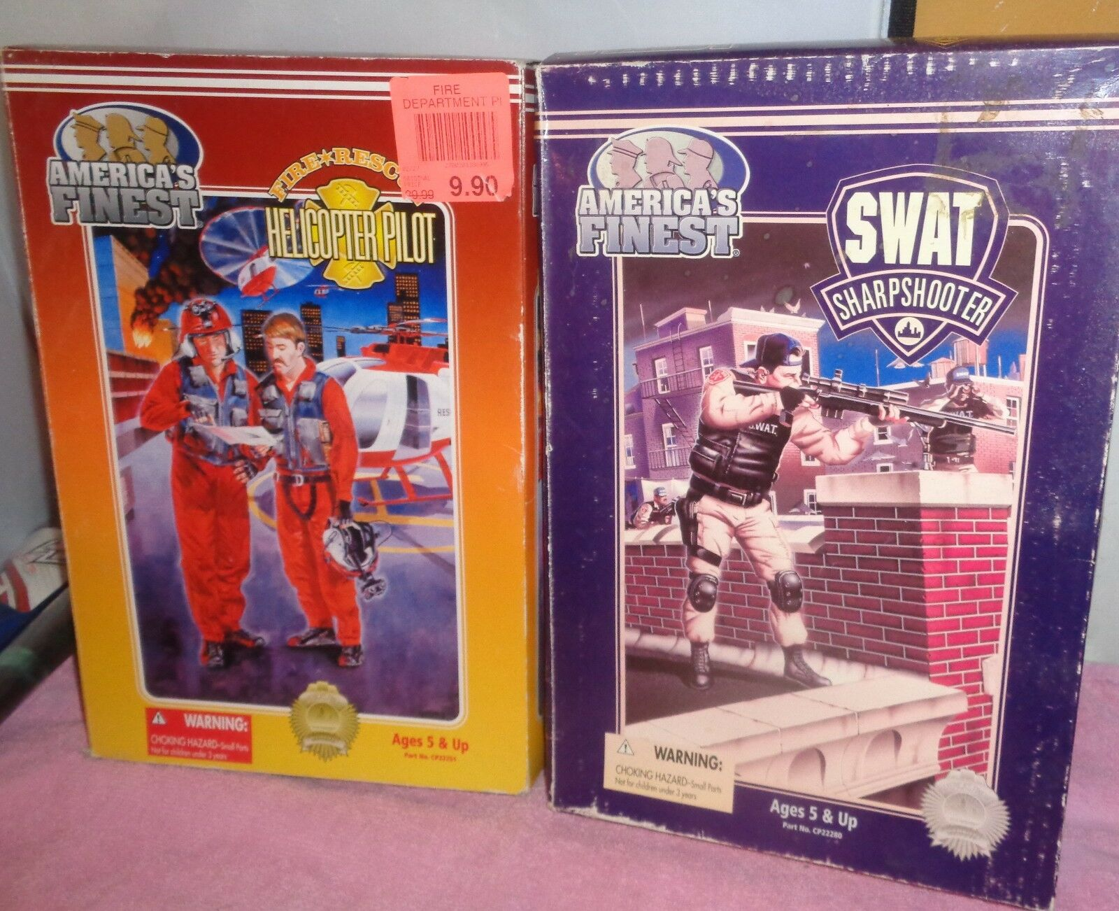 Americas Finest Action Figures  Swat Sharpshooter &  Helicopter Pilot  NRFB