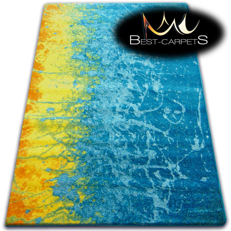 Épais Tapis Modernes Modernes Modernes 'Peinture' Original Bleu plein de Couleurs pour les Enfants | En Vente  17ac77