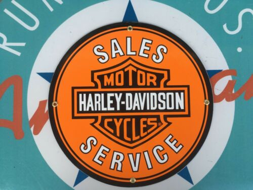 PORCELAIN coated 18 GAUGE steel SIGNS quality HARLEY DAVIDSON MOTOR SIGNS