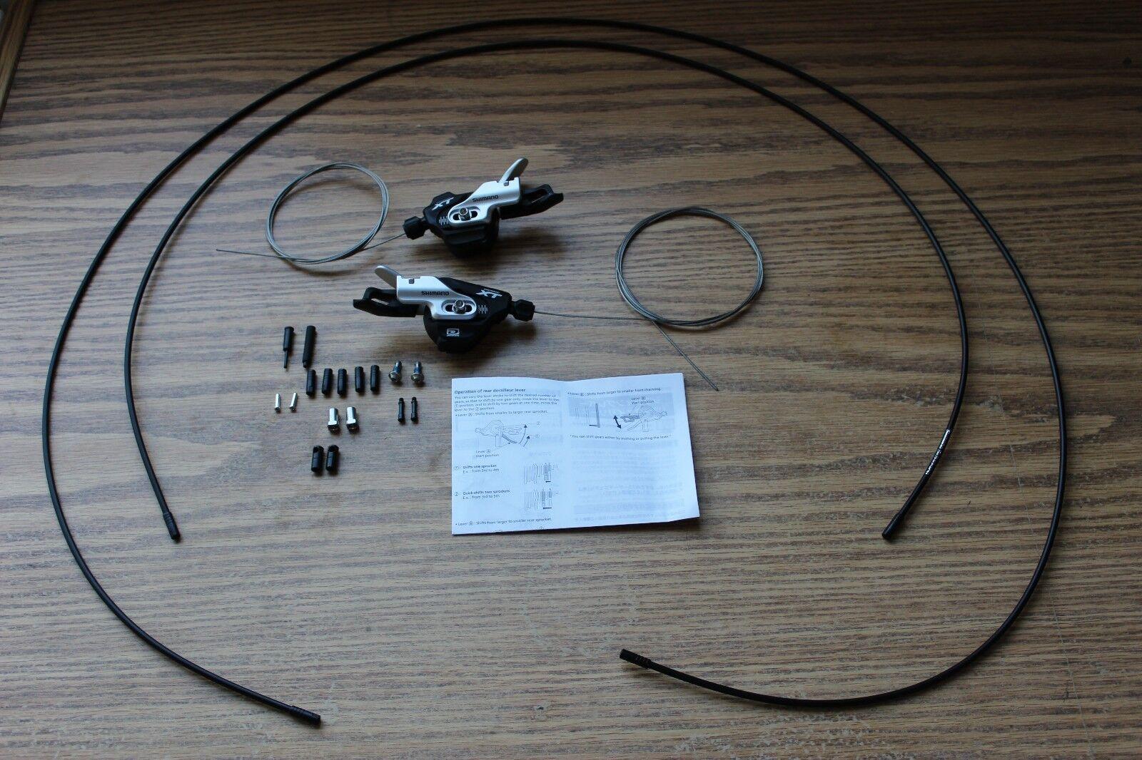 Bike Shifter Set Shimano XT SL-M780 w  Cables & Housing 10 Speed I-Spec B Mount