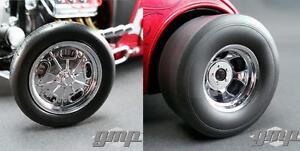 GMP-18841-Chromed-Hot-Rod-Drag-Wheel-amp-Tire-Pack-1-18-NEW
