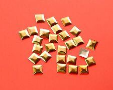 50 Nailheads Bügel-Metall-Nieten Viereck zum Aufbügeln 7mm gold