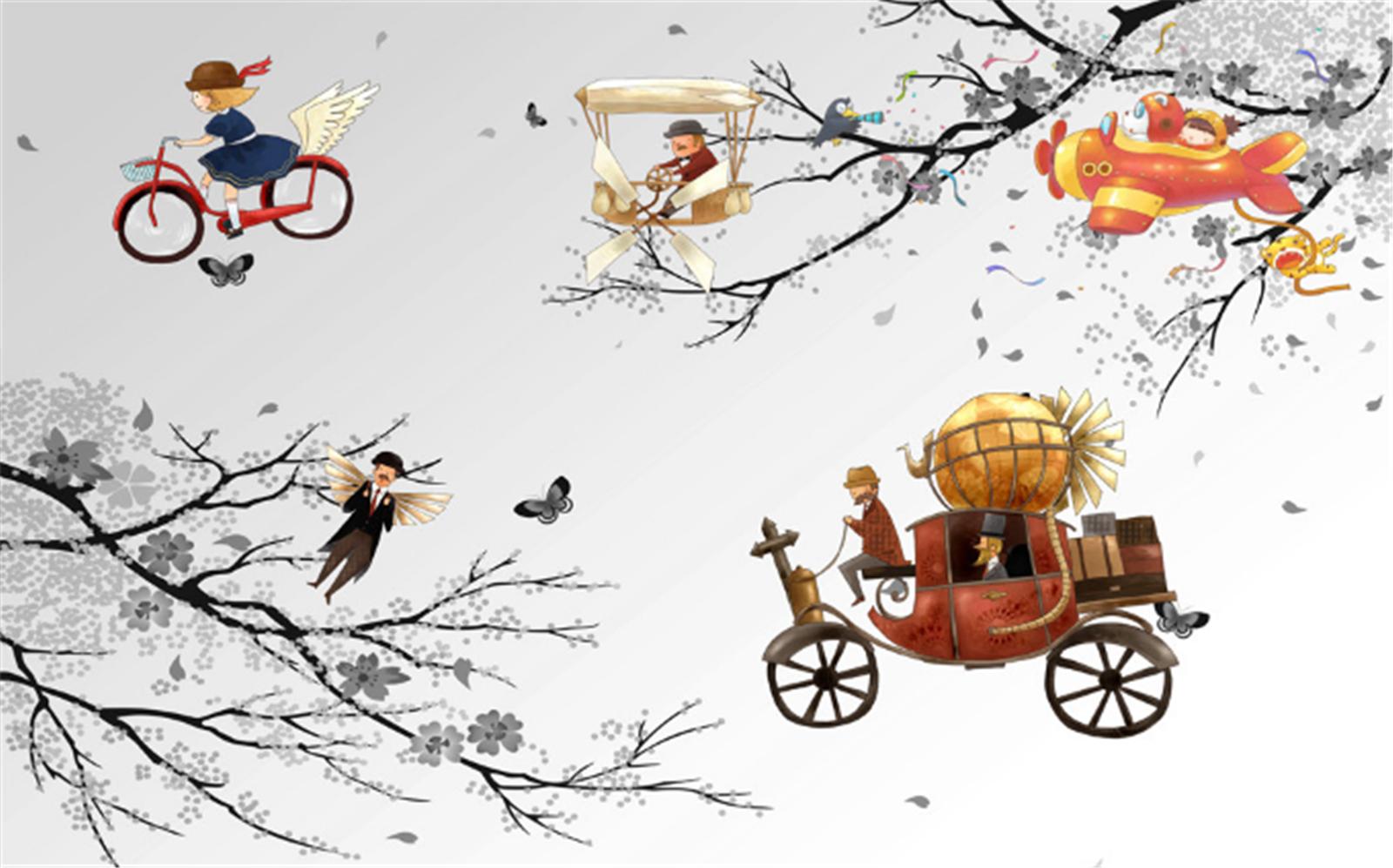 3D Märchen Baum Wagen 893 Tapete Tapete Tapete Wandgemälde Tapeten Bild Familie DE Lemon | Erste Gruppe von Kunden  | Vogue  |  436e5f