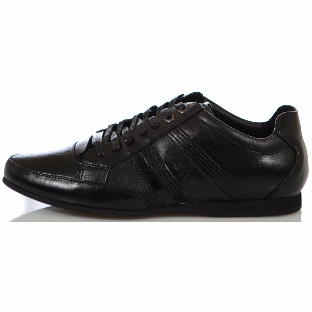 Bamboo A Asti Black Leather Trainer