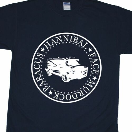 /'Murdock Baracus Hannibal Face/' Ramones-style T-Shirt inspired by The A-Team