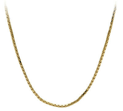 Halsketten Damen Herren Kette Gold Farbe 2mm breit 38-60 cm lang HKGO