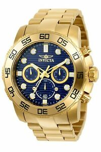 Invicta-Men-039-s-Pro-Diver-22228-Gold-Stainless-Steel-Quartz-Diving-Watch