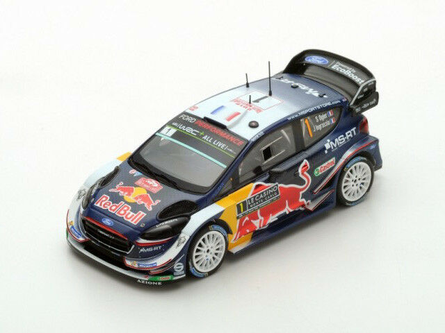 Spark Model 1 43 s5951 Ford Fiesta WRC  1 Winner Rally Montecarlo 2018 Ogier NEW