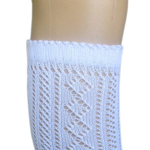 Filles frill top blanc back to school hautes point de pèlerine chaussettes UK4-6.5