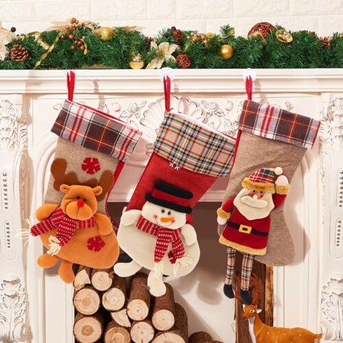Christmas Hanging bas sans cheminée idées sur les escaliers du Manteau