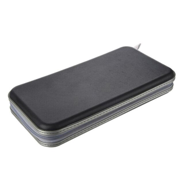80 Disc Album CD DVD Carry Cover Case Wallet Storage Holder Bag Hard Box - H7Y3