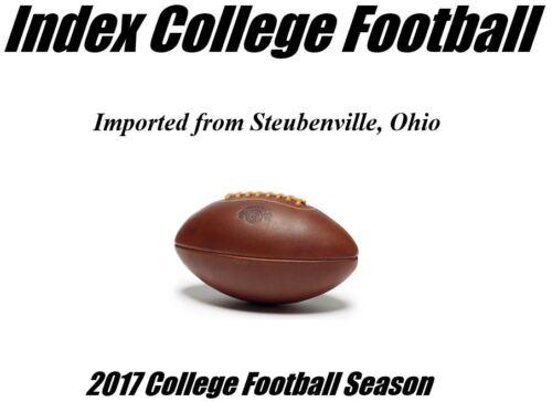 2017 Season Index College Football