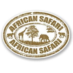 2 x african safari vinyl decal sticker laptop luggage travel tag